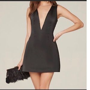 Sexy Bebe Low V Cut Tulle Cocktail Dress